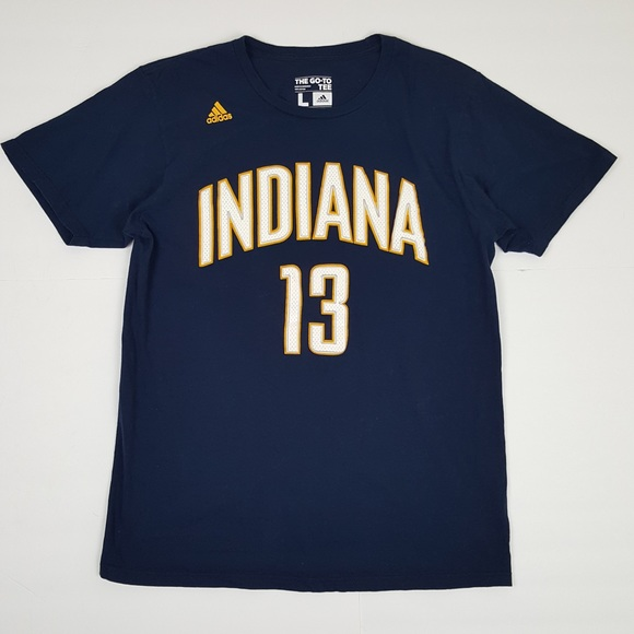 official photos f60a5 ec5c8 Adidas Indiana Pacers Paul George T Shirt